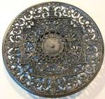Click to view larger image of Antique Ornate Charger Cast Iron BUDERUS (Image1)