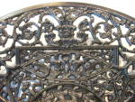 Click to view larger image of Antique Ornate Charger Cast Iron BUDERUS (Image3)