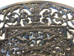 Click to view larger image of Antique Ornate Charger Cast Iron BUDERUS (Image4)