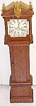 Click here to enlarge image and see more about item DHF234: Dollhouse Grandfather Clock Wood Ornate