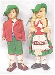 Click to view larger image of Lenci Style Dolls Boy & Girl Ethnic Costumes (Image1)