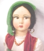 Click to view larger image of Lenci Style Doll Large + Ethnic Costume Italy (Image2)