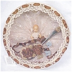 Click here to enlarge image and see more about item DOLL1062: Miniature Doll Ornate Box Baby Gift Vintage