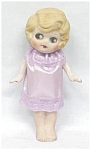 Click here to enlarge image and see more about item DOLL1067: All Bisque Doll Flapper Style Big Eyes