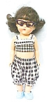 Click here to enlarge image and see more about item DOLL1188: Doll Virga Pam Ginger  in Sun Suit + Glasses