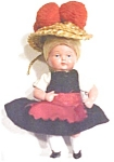 Click here to enlarge image and see more about item DOLL1263: Miniature Celluloid Dolls 2PC Ethnic Dressed