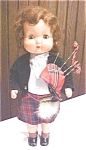 Click here to enlarge image and see more about item DOLL1272: Roddy Doll England Walker 1950's HP Bagpipes