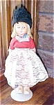 Click here to enlarge image and see more about item DOLL1305: Dutch Doll Hard Plastic Real Wooden Shoes