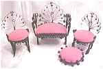 Click here to enlarge image and see more about item DOLL1375: Miniature Settee & Chairs Victorian Doll House 4 PC