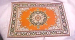 Click here to enlarge image and see more about item DOLL1437: Doll House Oriental Rug 12x7 3/4 Floral Victorian
