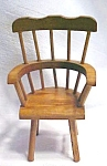 Click here to enlarge image and see more about item DOLL1461: Doll House Windsor Chair & Table Wood