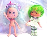 Click here to enlarge image and see more about item DOLL1468: Strawberry Shortcake Lime Green + Nymph Doll