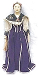 Click here to enlarge image and see more about item DOLL163: China Doll 1800's Ethnic Outfit Rare