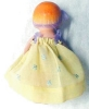 Click to view larger image of Miniature Bisque Doll Vintage Dress (Image4)