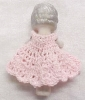 Click to view larger image of All Bisque Doll Flapper Style Pink Dress Miniature (Image2)