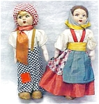 Click here to enlarge image and see more about item DOLL224: Lenci Type Doll Boy & Girl Ethnic