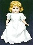 Click to view larger image of Mama Doll Big Eyes Blonde Saran Wig (Image1)
