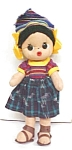 Click here to enlarge image and see more about item DOLL918: Cloth Folk Art Doll Colorful Ethnic