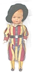 Click to view larger image of Celluloid Doll Palace Guard Colorful Uniform (Image1)