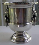 Urn Toothpick Holder Sheffield Silverplate Lions