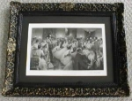 1880 Engraving The Hunt Ball Ornate Frame