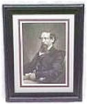 Click here to enlarge image and see more about item EBART414: Charles Dickens Engraving 1860 Framed