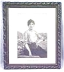 Click here to enlarge image and see more about item EBART618: Wild Rose Lady Ornate Frame Engraving 1880's