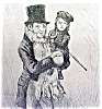 Click to view larger image of Dickens Tiny Tim & Bob Cratchit 1911 Framed (Image3)