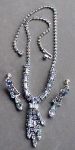 Awesome Weiss Rhinestone Necklace & Earrings