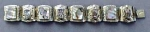 Sterling Link Bracelet Mother of Pearl Masks