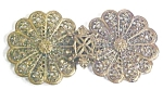 Click here to enlarge image and see more about item EBJ579: Cloak Clasp Ornate Brass Czechoslovavkia RARE