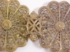 Click to view larger image of Cloak Clasp Ornate Brass Czechoslovavkia RARE (Image3)