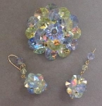 Shimmering Brooch + Matching Dangle Earrings