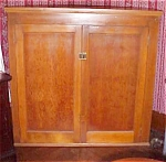 Click here to enlarge image and see more about item FURN156: Antique Jelly Cupboard Two Doors Shelves
