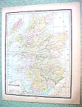 Click to view larger image of Antique Map Scotland Ireland 1894 (Image1)