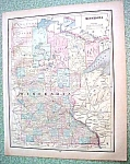 Antique Map Minnesota Missouri 1894