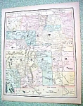 Antique Map New Mexico Washington 1894