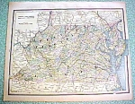 Map Virginia Maryland Delaware Washington DC 1894