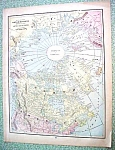 Click to view larger image of Antique Map Polar Regions 1894 Artic (Image1)