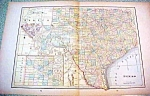 Antique Map Texas 1894 Lg Foldout
