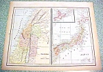 Antique Map Palestine Japan Persia 1894