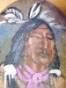 Click to view larger image of Native American Hand Painted Stone Signed (Image3)