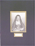 Lady Jane Engraving 1840's Ornate Frame Drummond