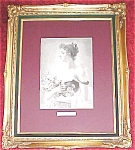 Click here to enlarge image and see more about item GEART227: Lady with Flowers 1880's Germany Engraving Ornate Frame