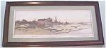 Click here to enlarge image and see more about item GEART364: Oystermans Home Color Print Dtd 1891 Antique Frame