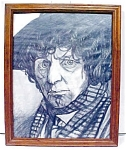 Click here to enlarge image and see more about item GEART95: Doctor Who Tom Baker Original Drawing