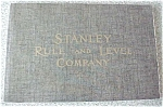 Stanley Rule and Level Co #102 Catalog Reprint