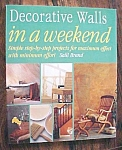 Click here to enlarge image and see more about item GEB5321: Decorative Walls in a Weekend Salli Brand 1998