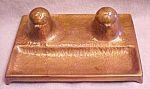 Click to view larger image of Copper Inkwell Arts and Crafts Era Dble Inkwells Boston (Image1)