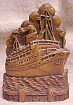 Click to view larger image of Syroco Wood Brush Holder Ocean Liner (Image1)
